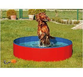 Karlie-Flamingo Skládací bazén pro psy modro/červený 160x30cm - Karlie-Flamingo