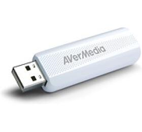 AVERMEDIA TV tuner DVB-T2 TD310, externí, USB, bílý (61TD3100A0AC) - AVERMEDIA