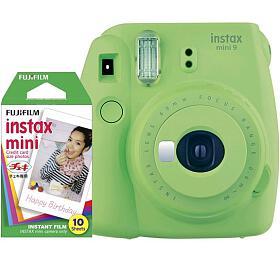 Fujifilm INSTAX MINI 9 bundle (with 1x10 film) - Lime Green (70100138449) - Fujifilm
