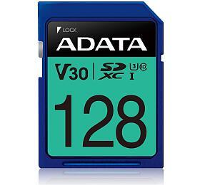 ADATA SDXC karta 128GB UHS-I U3 Class 10, Premier Pro (R: 95MB / W: 60MB) (ASDX128GUI3V30S-R) - ADATA