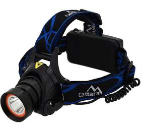Čelovka LED 400lm (1x XM-L+15x SMD) CATTARA - CATTARA