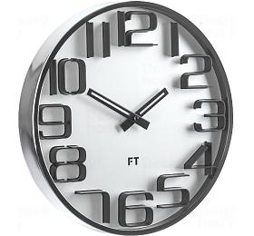 Designové nástěnné hodiny Future Time FT7010SI Numbers silver 30cm - Future Time