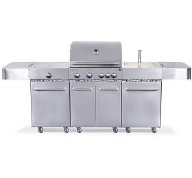 Plynový gril G21 Arizona, BBQ kuchyně Premium Line 6 hořáků + zdarma redukční ventil - G21