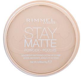 Pudr Rimmel London Stay Matte, 14 ml, odstín 003 Peach Glow - Rimmel London