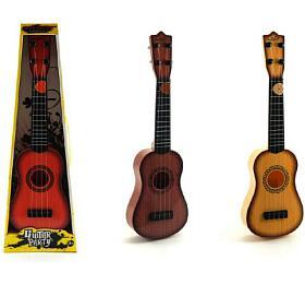 Kytara s trsátkem plast 40cm asst 3 barvy v krabici - Teddies