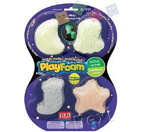 PlayFoam Modelína/Plastelína kuličková svítící ve tmě 4 barvy na kartě 19x26x3cm - PEXI