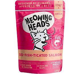 Kapsička pro kočky Meowing Heads So-fish-ticated Salmon 100g - Meowing Heads