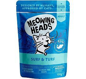 Kapsička pro kočky Meowing Heads Surf & Turf 100g - Meowing Heads