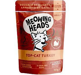 Kapsička pro kočky Meowing Heads Top Cat Turkey 100g - Meowing Heads