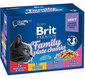 Brit Premium Cat kapsa Family Plate 1200g (12x100g) - Brit