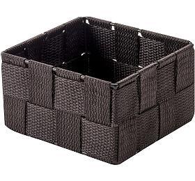 Úložný organizér do zásuvky Compactor TEX - košík S, 12 x 12 x 7 cm, čokoládový - Compactor