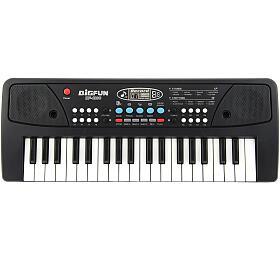 Piánko/Varhany/Klávesy 37 kláves, napájení na USB + přehrávač MP3 + mikrofon plast 40cm v krabici - Teddies
