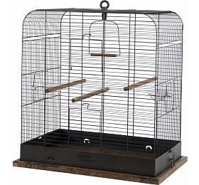 Klec ptáci RETRO MADELEINE kov/dřevo 54x34x53cm Zolux - ZOLUX