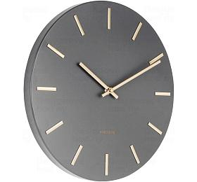 Designové nástěnné hodiny 5821GY Karlsson 30cm - Karlsson