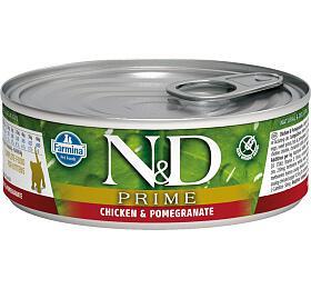 N&D CAT PRIME Kitten Chicken & Pomegranate 80g - N&D