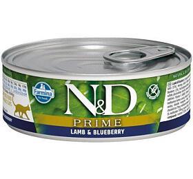 N&D CAT PRIME Adult Lamb & Blueberry 80g - N&D