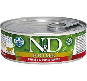 N&D CAT PRIME Adult Chicken & Pomegranate 80g - N&D