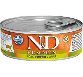 N&D CAT PUMPKIN Adult Boar & Apple 80g - N&D