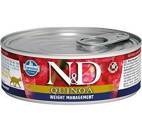 N&D CAT QUINOA Adult Weight Mnmgmt Lamb & Brocolli 80g - N&D