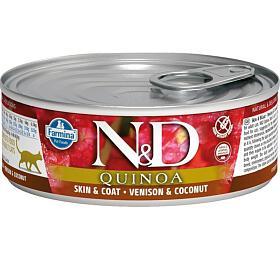 N&D CAT QUINOA Adult Venison & Coconut 80g - N&D