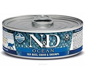 N&D CAT OCEAN Adult Tuna & Squid & Shrimps 80g - N&D