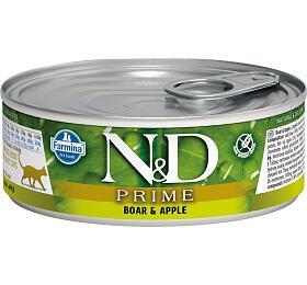 N&D CAT PRIME Adult Boar & Apple 80g - N&D