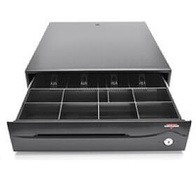 Virtuos pokladní zásuvka C420C, 9V-24V, s kabelem 24V, černá (EKA0051) - VIRTUOS