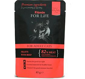 FFL cat pouch adult beef 85g Fitmin - FITMIN