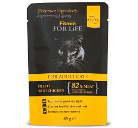 FFL cat pouch adult chicken 85g Fitmin - FITMIN