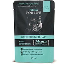 FFL cat pouch sterilized salmon 85g Fitmin - FITMIN