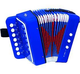 Harmonika tahací plast v krabici 19x18x10cm - Teddies