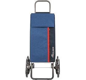Rolser Kangaroo Tweed Rd6 nákupní taška s kolečky do schodů, modrá - ROLSER S.A.