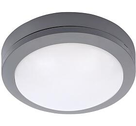 Solight LED venkovní osvětlení kulaté, šedé, 13W, 910lm, 4000K, IP54, 17cm - Solight