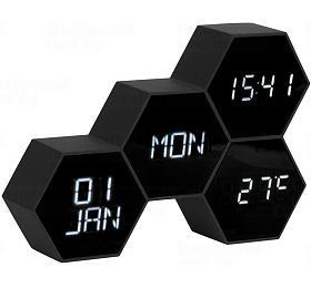 Digitální nástěnné/stolní hodiny KA5805BK Karlsson 18cm - Karlsson