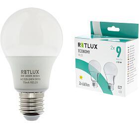 REL 20 LED A60 2x9W E27 Retlux - Retlux