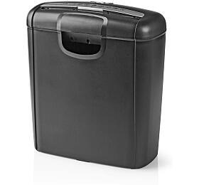 NEDIS skartovačka PS10/ formát A4/ velikost řezu 6mm/ stupeň utajení (DIN) 2/ objem nádoby 10 l/ černá (PASH110BKA4) - NEDIS
