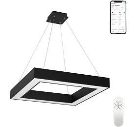 Smart závěsné svítidlo Immax NEO CANTO 07073L Zigbee 3.0 80x80cm 60W, černé - IMMAX