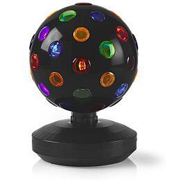 Vícebarevná LED Disco Koule / Síťové napájení / Černá - NEDIS