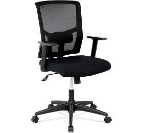 Kancelářská židle, látka černá, houpací mechanismus Autronic KA-B1012 BK, Mesh - Autronic