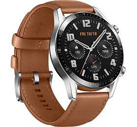 Chytré hodinky Huawei Watch GT2 Brown Leather Strap - HUAWEI