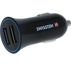 SWISSTEN CAR CHARGER 2,4A POWER WITH 2x USB + CABLE USB-C (20110908) - Swissten