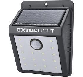 Světlo nástěnné s pohybovým čidlem, 120lm, solární nabíjení EXTOL-LIGHT - EXTOL