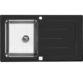 Sinks VITRUM 860 V 1mm kartáčovaný černý - Sinks