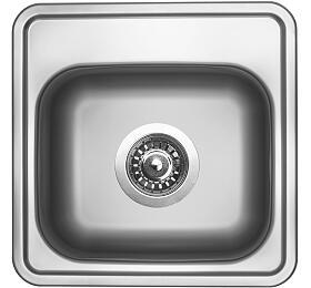 Sinks BAR 380 V 0,6mm matný (s přepadem) - Sinks