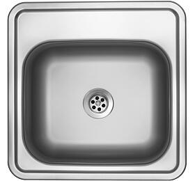 Sinks BAR 380 M 0,6mm matný (s přepadem) - Sinks