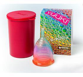 Menstruační kalíšek Yuuki Rainbow Jolly velký + desinfekční krabička - Yuuki