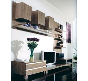 Obývací stěna 300x59x210 cm, barva noce Autronic 9HQ05 - Autronic