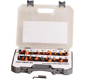Sada fréz profilových na dřevo 18-dílná se stopkou 6.35/8mm PROTECO - PROTECO
