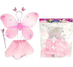 Kostým karnevalový princezna/víla 2 barvy v sáčku karneval - Teddies