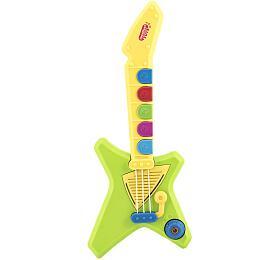 Kytara plast 42cm na baterie se zvukem se světlem v krabici 47x23x7cm - Teddies